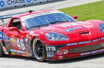 The Michael Baughman Racing Corvette that Davison will drive