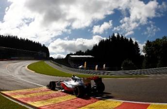 Jenson Button drove into the distance at Spa