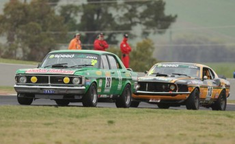 Brad Tilley leads John Bowe at Bathurst today