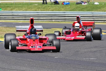 Andrew Robson and Paul Zazryn in their Lola T332s