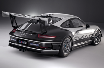 The rear of the new Porsche 911 GT3 Cup