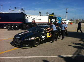 Ambrose's Ford NASCAR is rolled out for testing