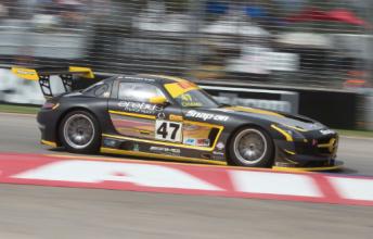 Australian GT rookie Christian Klien will start from pole in his AMG SLS GT3