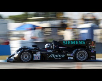 The car piloted by Ryan Briscoe to LMP2 Sebring victory