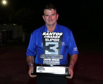 Steve Read with the Louie Rapisarda Trophy