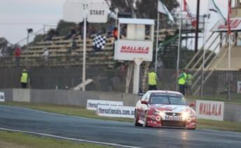 Matthew Hansen scored a maiden Kumho V8 victory