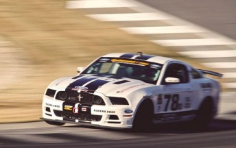 The Mustang that Davison will driver this weekend