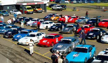 More than 400 Porsches from iconic Le Mans 24 Hour winners to road going rigs were at the bumper Rennsport meeting. Pic: Rob Annesley