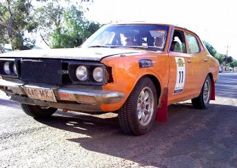John Giddings and his Datsun 180B