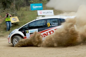 Eli Evans leads Rally Queensland with on day remaining