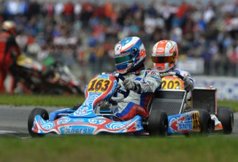 Gladstone driver Jason Faint was also in action across the weekend. (Pic: KSP)