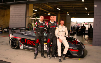 Lago, Russell and Kox pictured at February's Bathurst 12 Hour