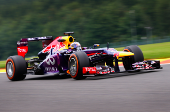 Sebastian Vettel romped to victory at Spa