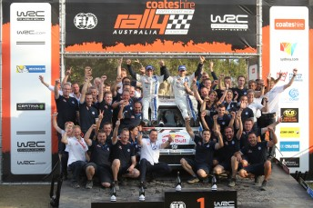 Sesbastien Ogier and co-driver Julien Ingrassia win Coates Hire Rally Australia but fall agonisingly short of sealing WRC title