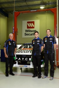 Dick Johnson with his 2014 drivers Scott Pye and David Wall