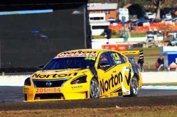 James Moffat on his way to collecting Nissan's maiden V8 Supercar win. Can Nissan become regular winners in 2014?