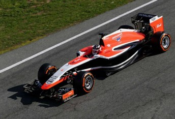The Marussia completed installation laps without setting a time