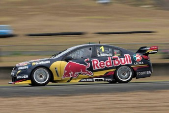 Jamie Whincup driving his Triple Eight Holden in Sydney