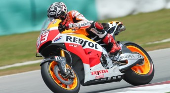 Marc Marques was fastest on all three days in Malaysia