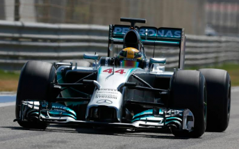 Lewis Hamilton topped the final day of pre-season testing