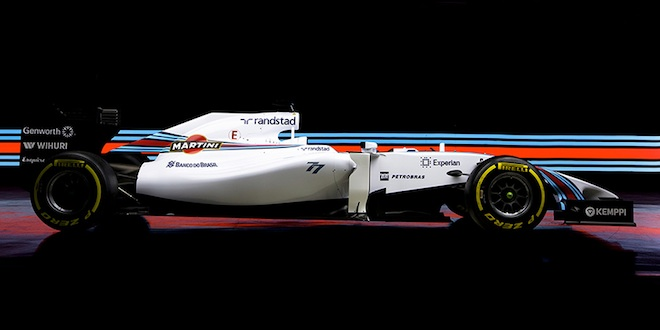 Williams sports primary backing from Martini this season