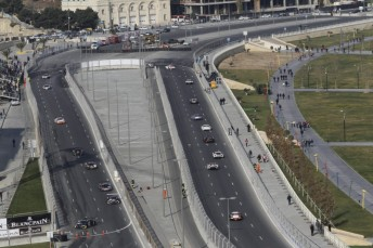 The Baku street circuit hosted the FIA GT Series last year