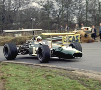 Jack Brabham at Brands Hatch in the Race of Champions in 1969