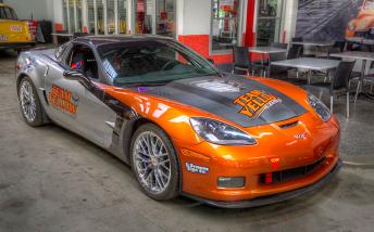 Steven Johnson will steer a Corvette on Saturday at Targa Tasmania