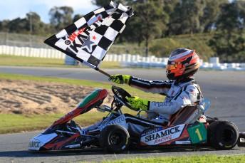 Joey Hanssen was all class in round three of the Castrol EDGE CIK Stars of Karting Championship