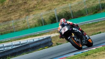 Marc Marquez tests Honda's 2015 MotoGP prototype at Brno