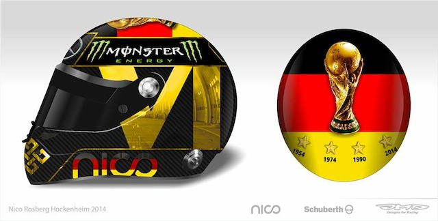 Rosberg's World Cup celebration helmet