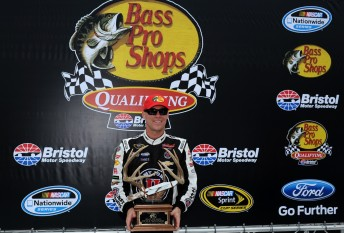 Harvick will start from pole at Bristol