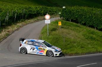 Jari-Matti Latvala has a handy lead in Germany