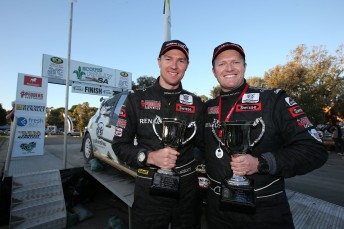 Pedder (right) and Mostat celebrate in South Australia