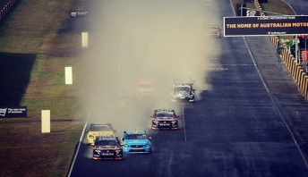 Wet weather greeted the field for Race 26