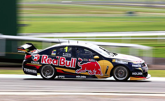 Whincup and Dumbrell will start Sunday's 500 from pole