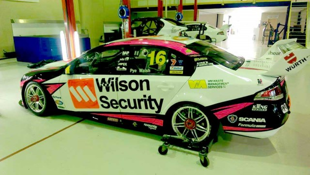 The Wilson Security Fords have turned pink for the Gold Coast 600