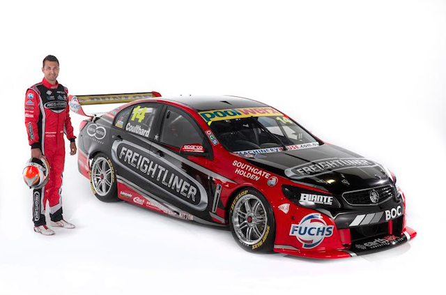 The sponsor change sees the #14 retain its red and black hues