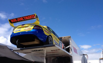 Gracie's car was at Phillip Island last weekend ahead of its move from Melbourne to the Gold Coast