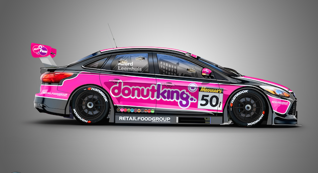 Tony Alford's MARC Focus V8 will run a Donut King livery