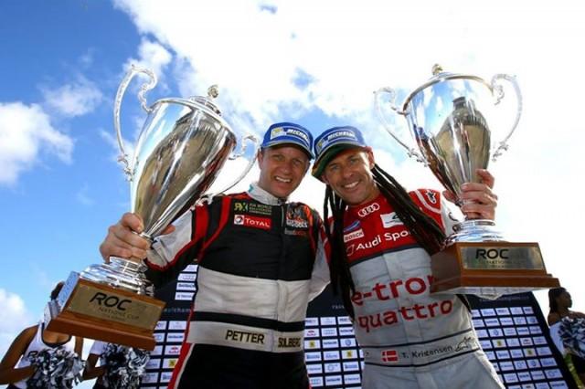Kristensen and Solberg celebrate victory