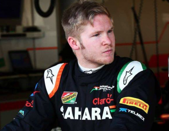 Spike Goddard following his F1 test with Force India late last year