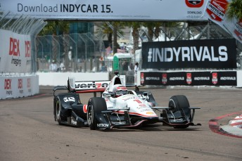 Will Power led a dominant display from Team Penske in St Petersburg qualifying