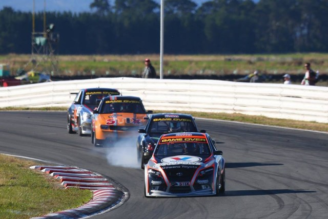 Adam Gowans showed the way in the Aussie Racing Cars