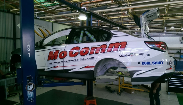 Jim Pollicina's HSV in the final stages of Sandown preperation