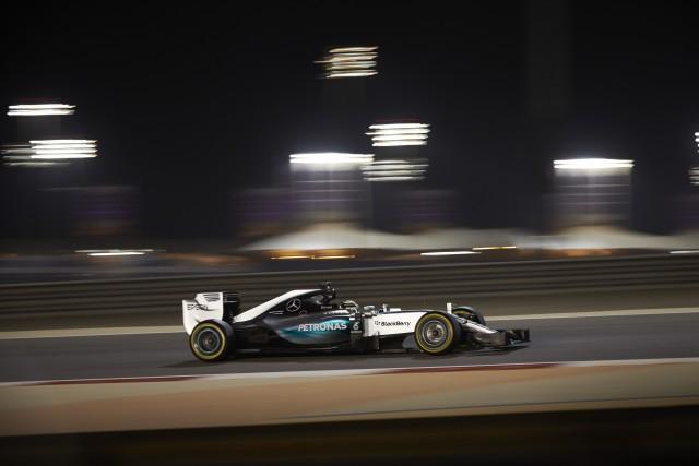 Lewis Hamilton on his way to a fourth pole position of the season