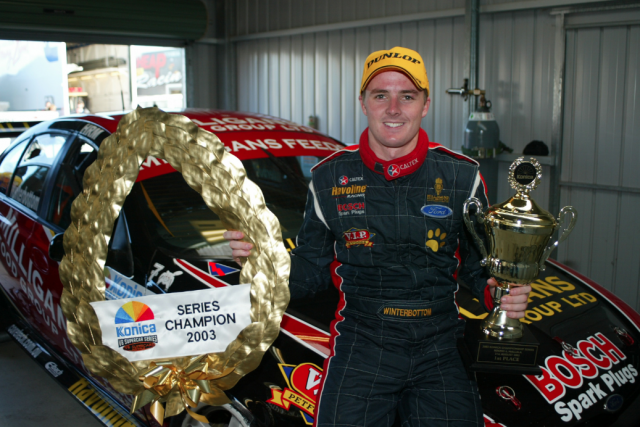 Mark Winterbottom took the 2003 title with SBR