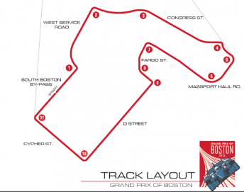 The proposed Boston street circuit map