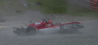 Lance Stroll was involved in the worst of the incidents at Monza
