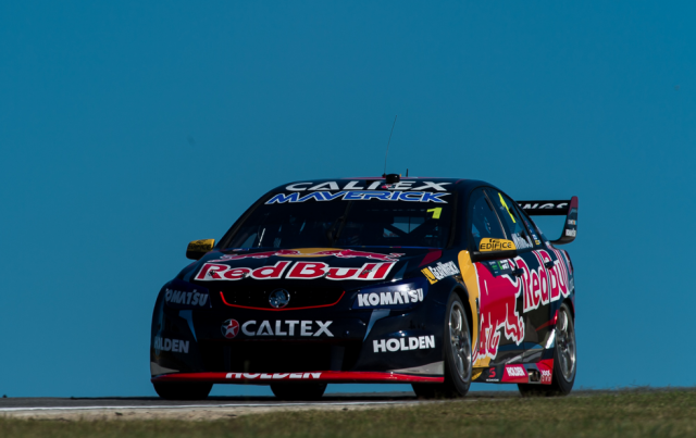 Jamie Whincup during practice at Barbagallo